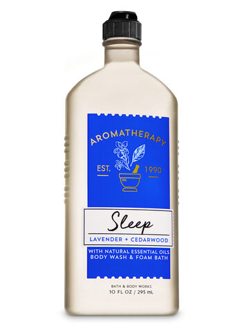 Aromatherapy Sleep - Lavender & Cedarwood Body Wash & Foam Bath - Bath And Body Works
