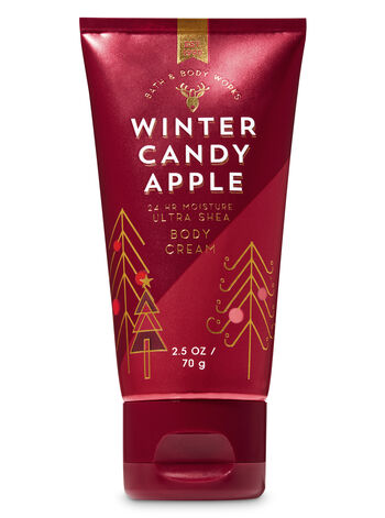 Signature Collection Winter Candy Apple Travel Size Body Cream - Bath And Body Works