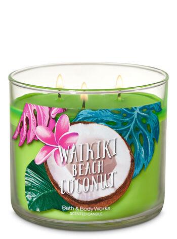 Waikiki Beach Coconut 3-Wick Candle - Bath And Body Works