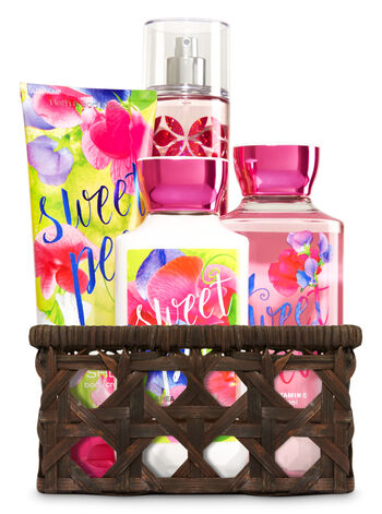 Sweet Pea Basket of Favorites Gift Kit - Bath And Body Works