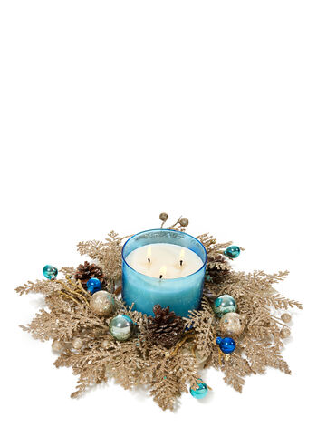 Blue Winter Wonderland 3-Wick Candle Ring - Bath And Body Works