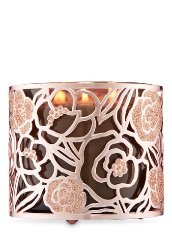All That Glitters Is Rose Gold 3-Wick Candle Holder - Bath And Body Works