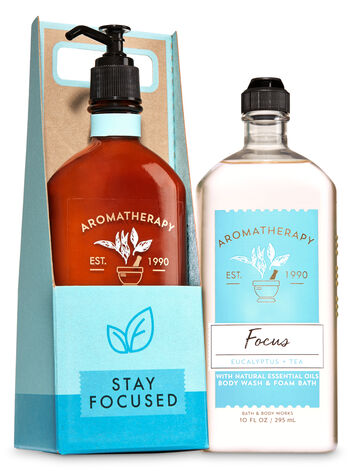 Aromatherapy Focus - Eucalyptus & Tea Stay Focused Gift Set - Bath And Body Works
