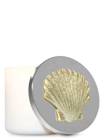Sparkly Gold Seashell 3-Wick Candle Magnet - Bath And Body Works
