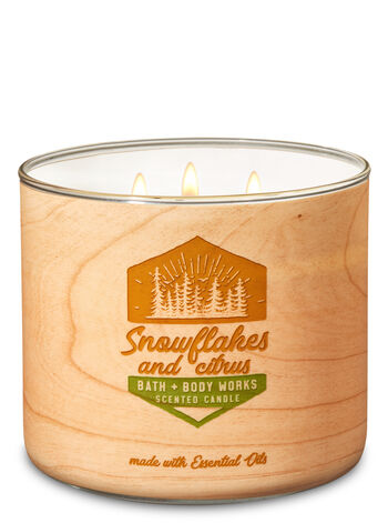Snowflakes & Citrus 3-Wick Candle - Bath And Body Works