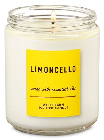 Sugared Lemon Zest Single Wick Candle - Bath And Body Works