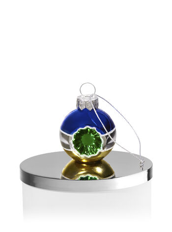 Blue, Silver & Gold Ornament 3-Wick Candle Magnet - Bath And Body Works