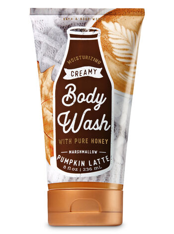 Signature Collection Marshmallow Pumpkin Latte Creamy Body Wash - Bath And Body Works