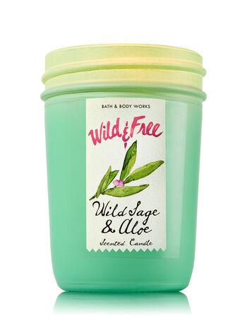 Wild Sage & Aloe Medium Candle - Bath And Body Works