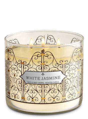 White Jasmine 3-Wick Candle - Bath And Body Works