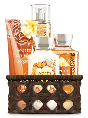 Warm Vanilla Sugar Basket of Favorites Gift Kit - Bath And Body Works