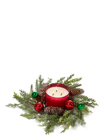 Glitter Pine 3-Wick Candle Ring - Bath And Body Works