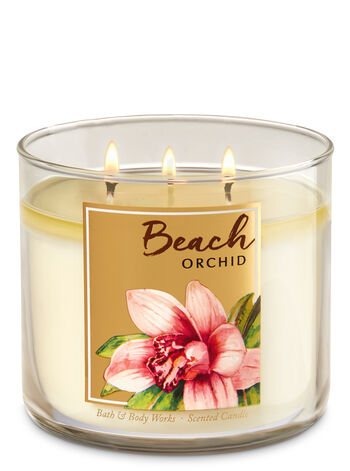 Beach Orchid 3-Wick Candle - Bath And Body Works