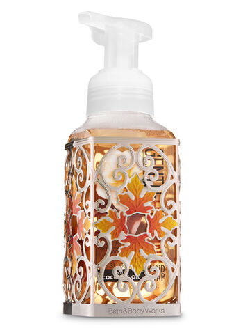 Fall Leaf Scroll Gentle Foaming Soap Holder - Bath And Body Works