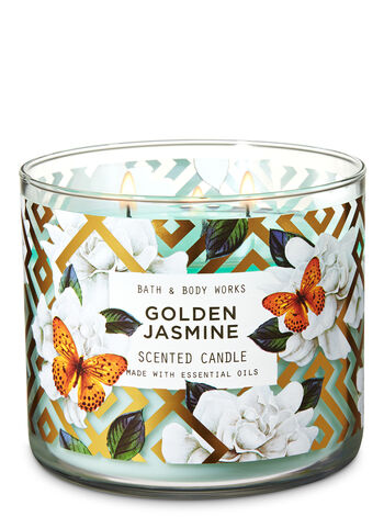 Golden Jasmine 3-Wick Candle - Bath And Body Works