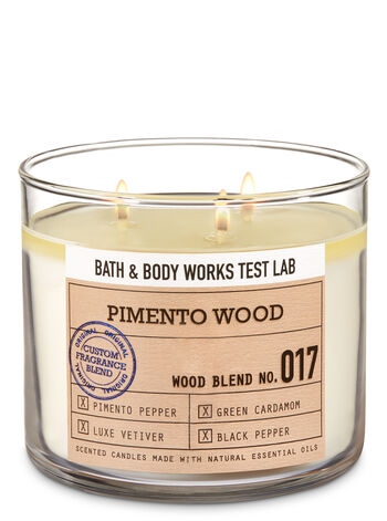 Bath & Body Works Test Lab Blend No. 017 Pimento Wood 3-Wick Candle - Bath And Body Works