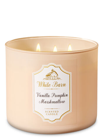 White Barn Vanilla Pumpkin Marshmallow 3-Wick Candle - Bath And Body Works
