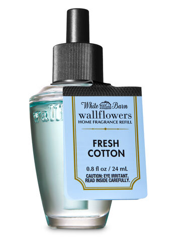 White Barn Fresh Cotton Wallflowers Fragrance Refill - Bath And Body Works