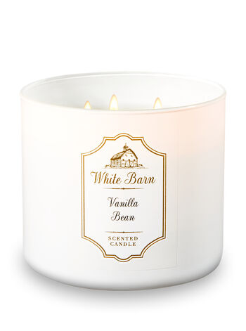 White Barn Vanilla Bean 3-Wick Candle - Bath And Body Works