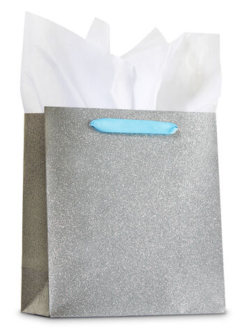 Silver Glitter Medium Gift Bag - Bath And Body Works
