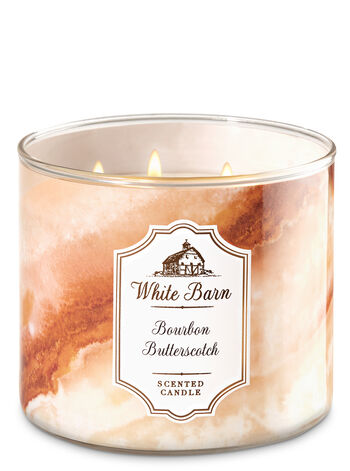White Barn Bourbon Butterscotch 3-Wick Candles - Bath And Body Works
