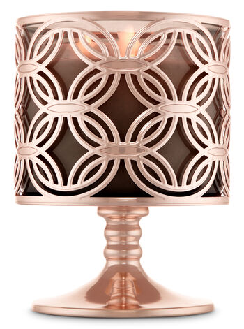 Chain Link Pedestal 3-Wick Candle Sleeve