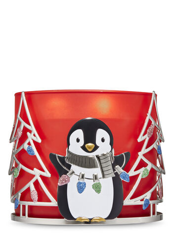 Sweet Penguin & Trees 3-Wick Candle Sleeve