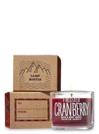 Frosted Cranberry Mini Candle