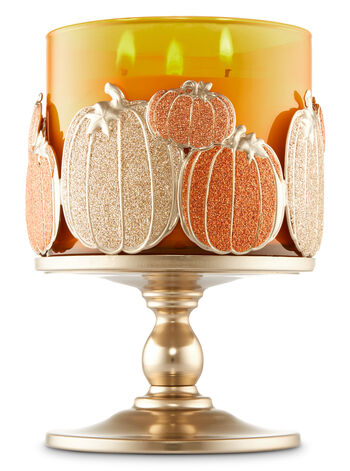 Multi Pumpkin Pedestal 3-Wick Candle Sleeve