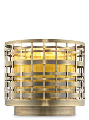 Large Basketweave 3-Wick Candle Holder