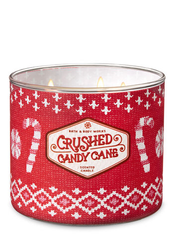 Crushed Candy Cane 3-Wick Candle - Bath And Body Works