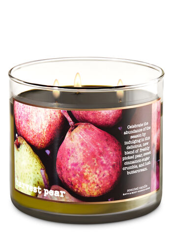 Harvest Pear 3-Wick Candle - Bath And Body Works