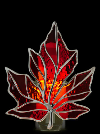 Red Stained Glass Leaf Nightlight Wallflowers Fragrance Plug