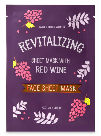 Revitalizing with Red Wine Face Sheet Mask