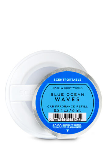Blue Ocean Waves Scentportable Fragrance Refill - Bath And Body Works