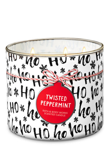 Twisted Peppermint 3-Wick Candle - Bath And Body Works