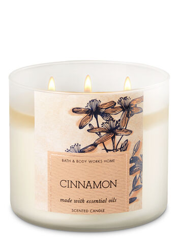Cinnamon 3-Wick Candle - Bath And Body Works