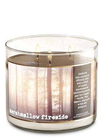 Marshmallow Fireside 3-Wick Candle - Bath And Body Works