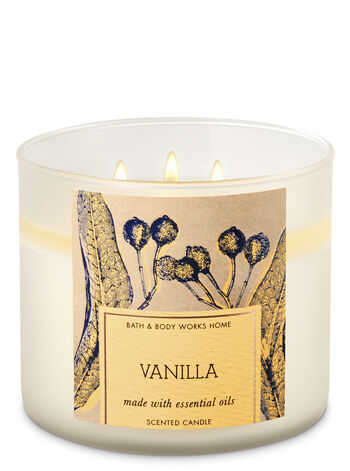 Vanilla 3-Wick Candle - Bath And Body Works