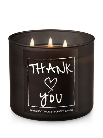 Thank You - Blue Ocean Waves 3-Wick Candle - Bath And Body Works