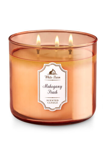 Mahogany Peach 3-Wick Candle - Bath And Body Works
