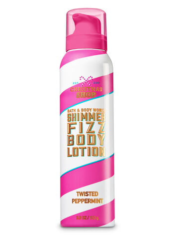 Signature Collection Twisted Peppermint Shimmer Fizz Body Lotion - Bath And Body Works