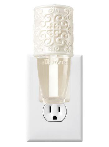 Cream Embossed Scroll Wallflowers Fragrance Plug
