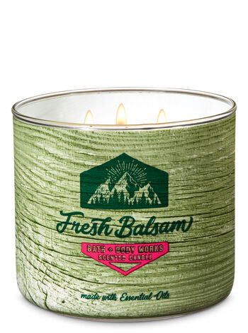 Fresh Balsam 3-Wick Candle - Bath And Body Works