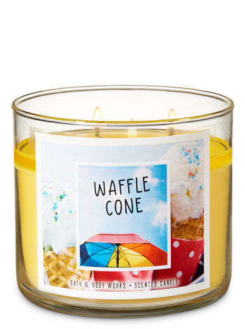 Waffle Cone 3-Wick Candle - Bath And Body Works