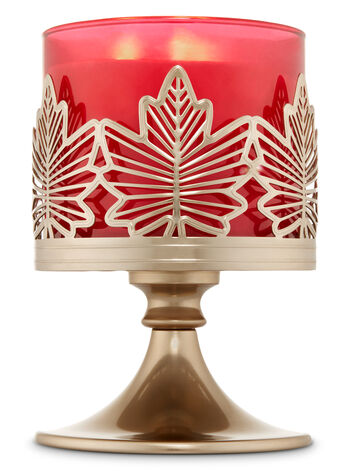 Maple Leaf Pedestal 3-Wick Candle Sleeve