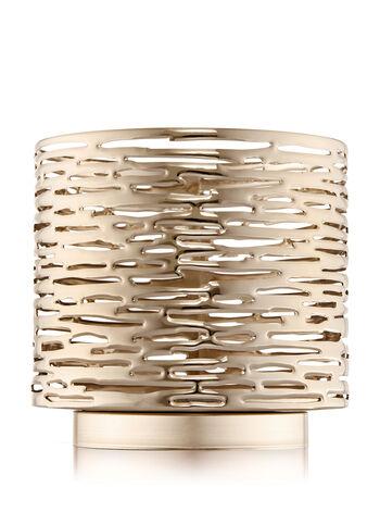 Golden Wood Grain 3-Wick Candle Sleeve
