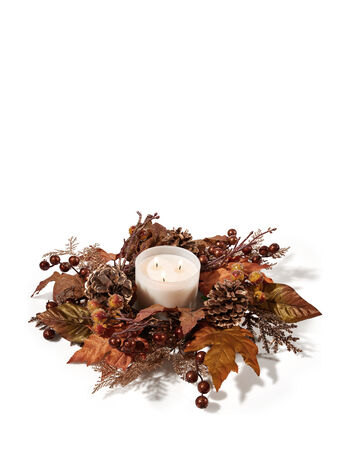 Fall Berry 3-Wick Candle Ring - Bath And Body Works