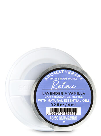 Relax - Lavender & Vanilla Scentportable Fragrance Refill - Bath And Body Works