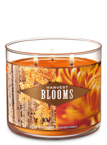 Harvest Blooms 3-Wick Candle - Bath And Body Works
